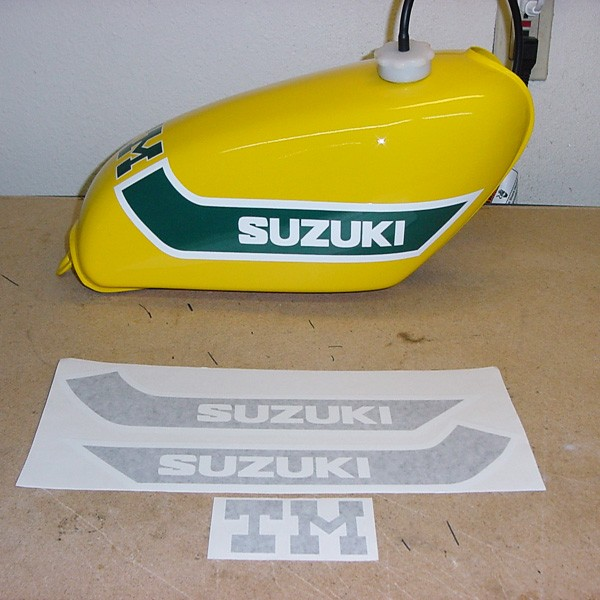 1973 Suzuki TM125 Gas Tank Decal Set