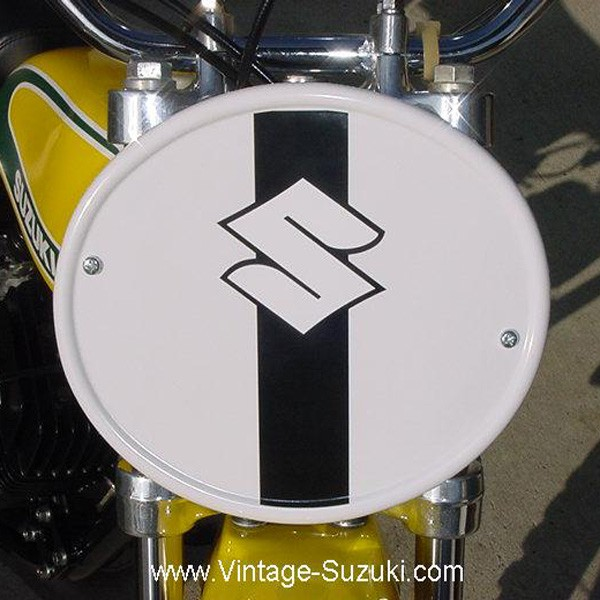 Suzuki TM Front Number Plate Decal