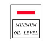 Suzuki TM Oil Tank Level Decal