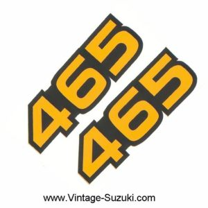 Suzuki RM Side Panel Bike Size Decal Set