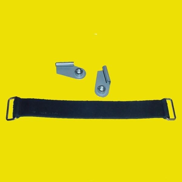 Suzuki TM Front Number Plate Bracket Set w/ NOS Strap