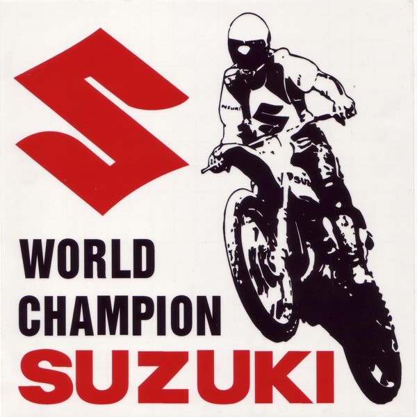 Suzuki World Champion Window Sticker