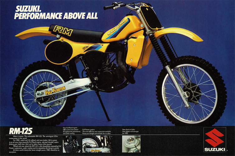 1982 RM125 Decal Set